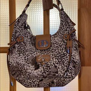 Guess leopard print purse